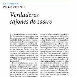 """""""VERDADEROS CAJONES DE SASTRE"""". Artículo de Pilar Vicente en El Día de Valladolid"""