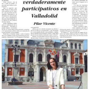 """""""Por unos Presupuestos verdaderamente Participativos en Valladolid"""". Artículo de Pilar Vicente en Delicias al día."""