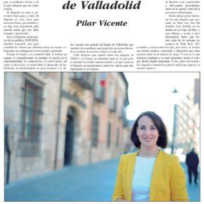 """""""Rugby: deporte de Valladolid"""". Artículo de Pilar Vicente en Delicias al día."""