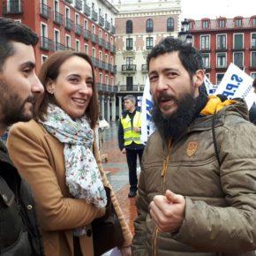 Ciudadanos apoya al Sindicato Profesional de Policías Municipales en su concentración por la mejora de sus condiciones laborales en Valladolid