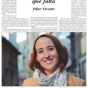 """""""La transparencia que falta"""". Artículo de Pilar Vicente en Delicias al día."""