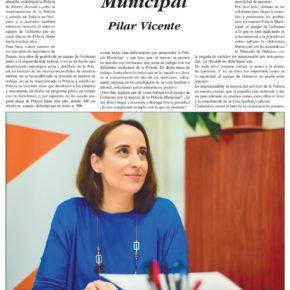 """""""Con la Policía Municipal"""". Artículo de Pilar Vicente en Delicias al día."""