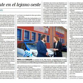"""""""Puente en el lejano oeste"""". Artículo de Pilar Vicente en El Mundo Diario de Valladolid."""