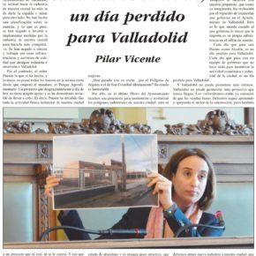 """""""Cada día con Puente, es un día perdido para Valladolid"""". Artículo de Pilar Vicente en Delicias al día."""