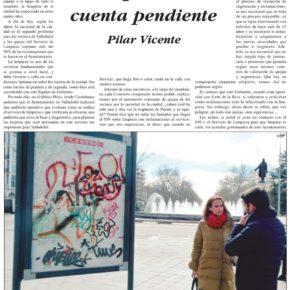 """""""La limpieza, una cuenta pendiente"""". Artículo de Pilar Vicente en Delicias al día."""