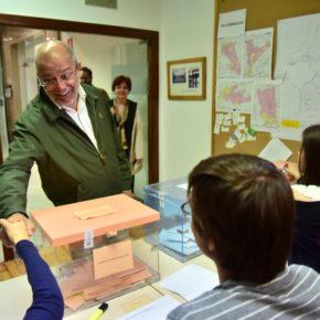 """Francisco Igea anima al voto en """"un día para defender la libertad"""" y para apostar por el """"futuro"""" de Castilla y León y Europa"""