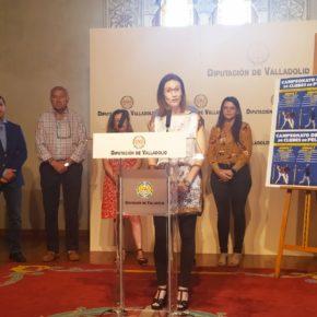 Gema Gómez acompaña a la Dtra. General de Deportes, María Perrino, en la presentación del Campeonato de Europa de Clubes de Pelota