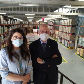 La Vicepresidenta de la Diputación y Portavoz de Ciudadanos Valladolid visita el Banco de Alimentos para interesarse por su situación