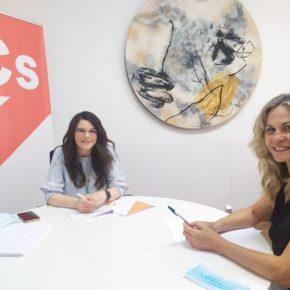 La Portavoz provincial de Cs se reúne con la concejal naranja de Pedrosa del Rey para analizar la situación y poner en marcha acciones conjuntas