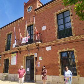 La vicepresidenta de la Diputación de Valladolid visita Cigales para preocuparse por las consecuencias tras la tromba de agua caída