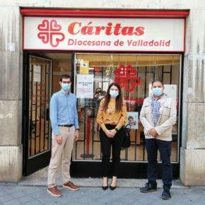 La portavoz de Cs Valladolid visita Cáritas para conocer su labor durante el Estado de Alarma y la actual situación en capital y provincia