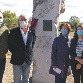 La Vicepresidenta de la Diputación, Gema Gómez, visita Pintia para participar en el acto de descubrimiento de la placa por el premio Hispania Nostra