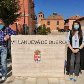 La Vicepresidenta de la Diputación visita Villanueva de Duero para analizar con el Concejal naranja José Luis Bravo las ayudas a las que puede acogerse la localidad