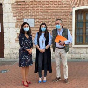 La portavoz de Cs visita a los Concejales naranjas de Laguna de Duero para analizar la actualidad del municipio a raíz de la pandemia