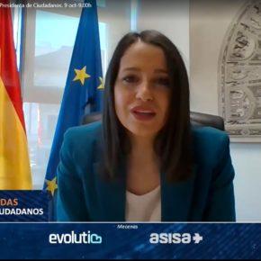 Gema Gómez y Nuria Duque participan en una NEF online con la Presidenta de Ciudadanos, Inés Arrimadas.