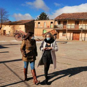 La portavoz de Ciudadanos Valladolid visita Pedrosa del Rey para interesarse por su situación y sus necesidades