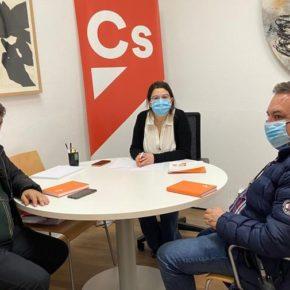 Los dirigentes naranjas de Santovenia se reúnen con la portavoz provincial del partido para coordinar las próximas acciones en el municipio