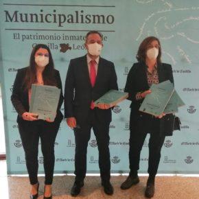 Gema Gómez asiste a la presentación de la nueva edición de 'Municipalismo.El patrimonio inmaterial de Castilla y León', en las Cortes, junto a varios dirigentes del partido