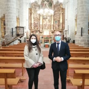 La Portavoz de Cs y Vicepresidenta de la Diputación y el Consejero de Cultura visitan la obra de restauración en la Capilla de los Gallo Andrada de la iglesia El Salvador
