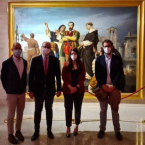 Luis Fuentes acompaña al Grupo Municipal de Valladolid en la exposición 'Comuneros: V Centenario'