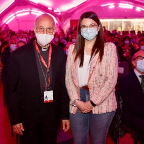 La Vicepresidenta de la Diputación y Portavoz de Ciudadanos, Gema Gómez,asiste a la inauguración del VIII Encuentro Nacional de Jóvenes de Hermandades y Cofradías