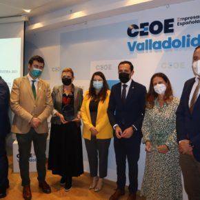 La Vicepresidenta de la Diputación de Valladolid, Gema Gómez, acude a la entrega de los Premios Agroalimentario e Industrial de AMMDE, en la CEOE de Valladolid
